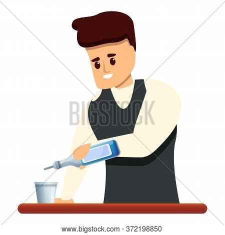 Bartender Icon. Cartoon Of Bartender Vector Icon For Web Design Isolated On White Background