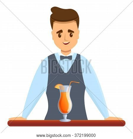 Bartender Summer Cocktail Icon. Cartoon Of Bartender Summer Cocktail Vector Icon For Web Design Isol