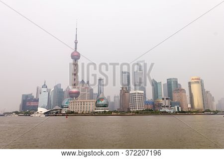 China, Shanghai - 27 April, 2020: Modern Buildings In Shanghai Pudong. Since The Early 1990S Shangha