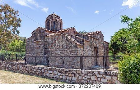 Omorfokklisia Church, A 12th Century Greek Orthodox Church In Galatsi, Athens, Greece.