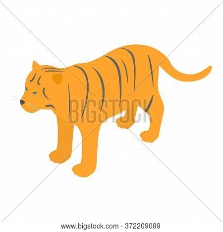 Korean Tiger Icon. Isometric Illustration Of Korean Tiger Vector Icon For Web