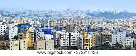 Hyderabad, INDIA - January 12 : Hyderabad is the fourth most populous city and sixth most populous urban agglomeration in India, on January 12 2018, Hyderabad, India