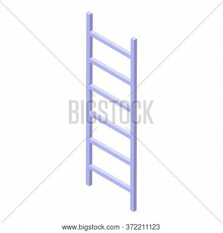 Steel Ladder Icon. Isometric Of Steel Ladder Vector Icon For Web Design Isolated On White Background