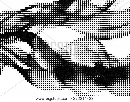 Polka Dot Halftone Digital Vector Pattern Design. Circle Elements Grid. Surface Points, Polka Dot Ci