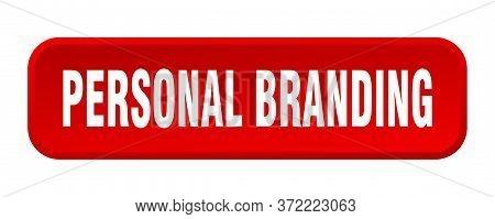 Personal Branding Button. Personal Branding Square 3d Push Button