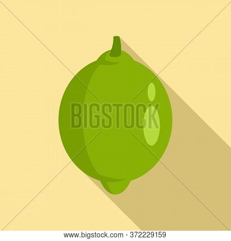 Mexican Lime Icon. Flat Illustration Of Mexican Lime Vector Icon For Web Design