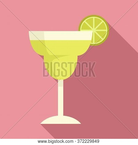 Tequila Cocktail Icon. Flat Illustration Of Tequila Cocktail Vector Icon For Web Design