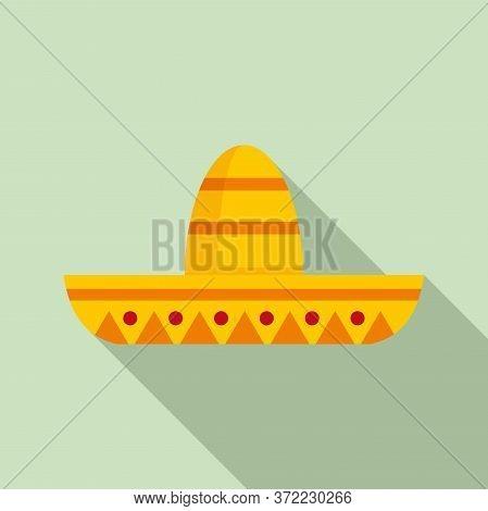 Mexican Sombrero Icon. Flat Illustration Of Mexican Sombrero Vector Icon For Web Design