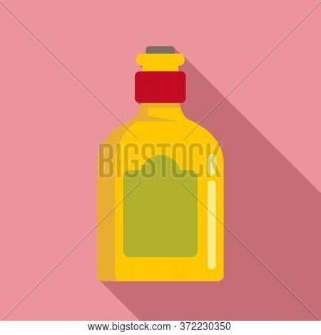 Mexican Drink Bottle Icon. Flat Illustration Of Mexican Drink Bottle Vector Icon For Web Design