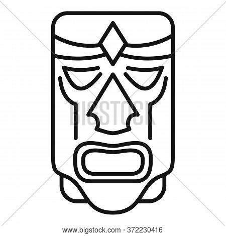 Mexican Wood Idol Icon. Outline Mexican Wood Idol Vector Icon For Web Design Isolated On White Backg