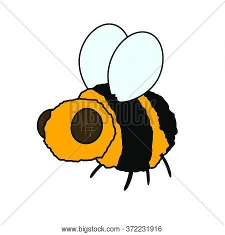 Bumblebee Icon. Isolated On White Background. Vector Illustration.