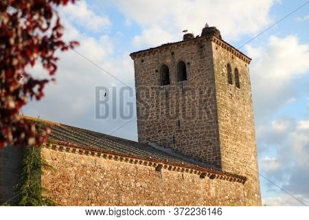 Segovia, Where People Can Attend Church Services In A Rural And Rustic Historical Church With Antiqu
