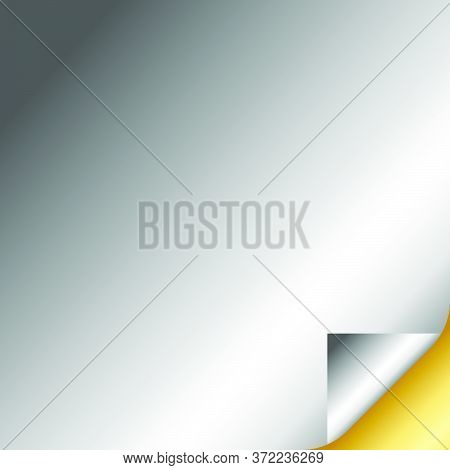 Silver And Gold Gradient Curled Paper Page Corners Vector Illustration 05