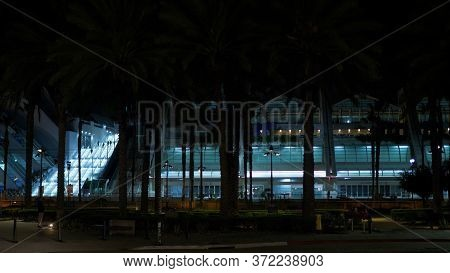 San Diego Convention Center By Night - San Diego, Usa - March 18, 2019