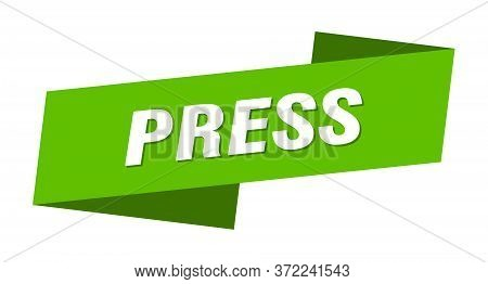 Press Banner Template. Press Ribbon Label Sign