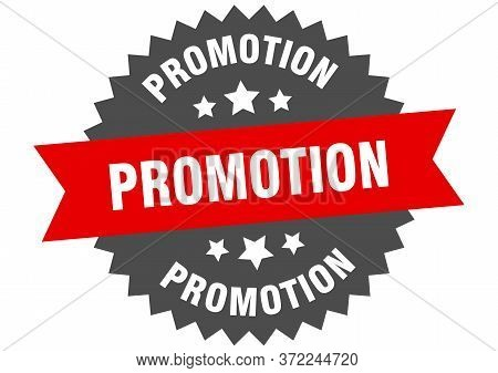 Promotion Sign. Promotion Red-black Circular Band Label