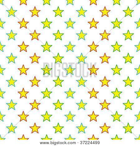 Seamless Colorful Stars Pattern