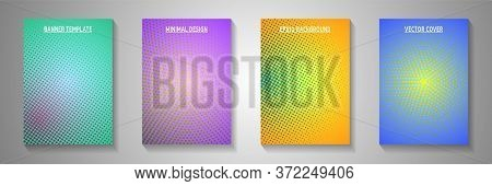 Abstract Point Faded Screen Tone Title Page Templates Vector Series. School Notebook Perforated Scre