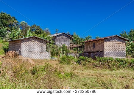 Small Village In The Area Between Kalaw And Inle, Myanmar