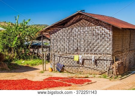 Village House In The Area Between Kalaw And Inle, Myanmar