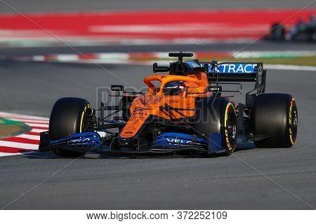 Barcelona, Spain. 19th February 2020. Formula 1  Pre-season Test. Carlos Sainz   - Mclaren F1 Team M