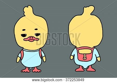 A Cartoon Duck. Isolated Object For The Design Element. Vector Illustration. Funny Children S Charac