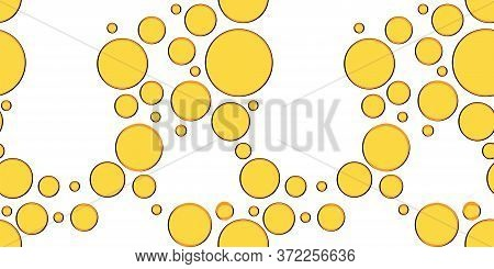 Seamless Pattern With Yellow Bubbles. Carbonated Drink. Modern Design For Packaging, Paper, Fabric.