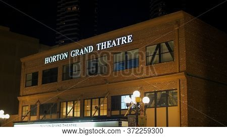 Horton Grand Theater At Historic Gaslamp Quarter San Diego By Night - San Diego, Usa - March 18, 201