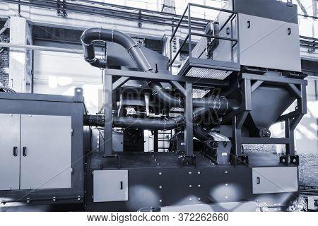 a new sandblasting machine for modern factory