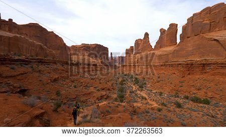 Arches National Park In Utah- Utah, United States - March 20, 2019