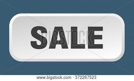 Sale Button. Sale Square 3d Push Button