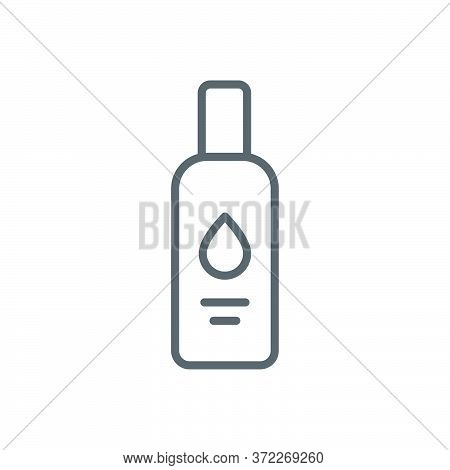 Lubricant Gel Vector Icon Symbol For Sex Isolated On White Background