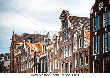Antique building view in Amsterdam, Netherlands