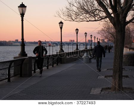 running at Hudson River