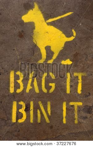 Bag And Bin Dog Mess Sign