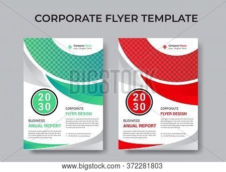 Corporate Flyer Design , Business Flyer Template Vector Design For Brochure, Annual Report, Magazine