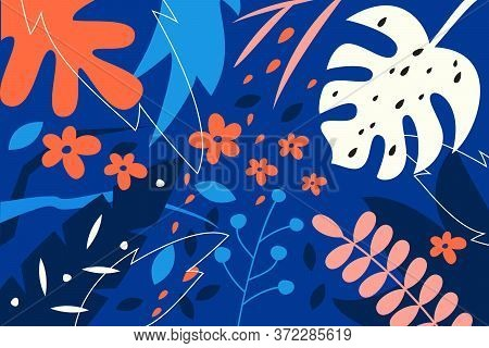 Creative Universal Abstract Background With Floral Elements. Vector Illustration.