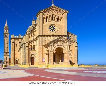 Basilica Of The National Shrine Of The Blessed Virgin Of Ta' Pinu In Gharb On The Island Of Gozo,mal