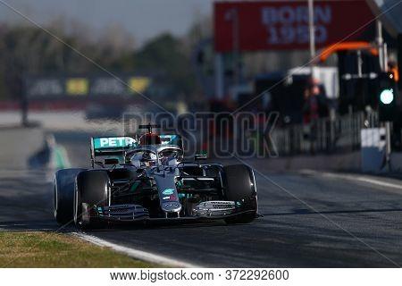 Barcelona, Spain. 20th February 2020. Formula 1 Pre-season Test. Lewis Hamilton - Mercedes Amg Petro