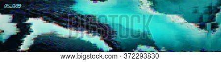 Glitch Art Digital Vector Illustration. Graphic Vector Art. Glitch Digital Color Pixel Noise. Abstra