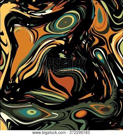 Background Image Of Abstract Colored Chaos Green And Brown