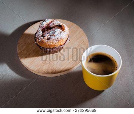 Americano In Cup With Sugar Bun.soft Focus