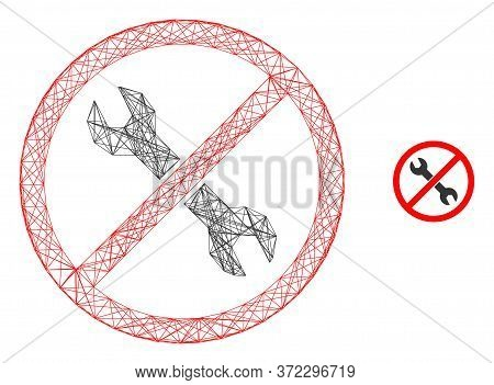 Web Carcass Forbidden Repair Vector Icon. Flat 2d Carcass Created From Forbidden Repair Pictogram. A