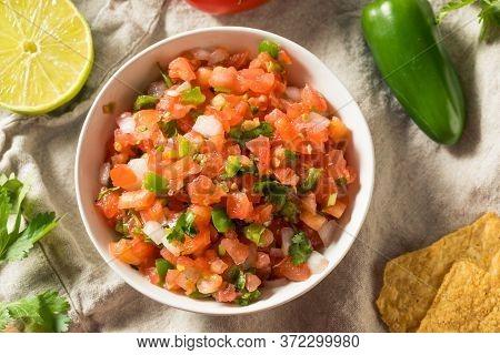 Spicy Homemade Pico De Gallo