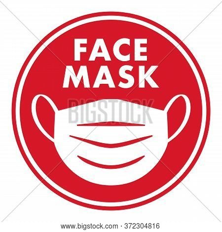 Face Mask Icon | Personal Protective Equipment (ppe) Symbol | Facial Coverings For Virus Protection