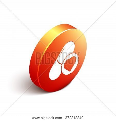 Isometric Pills For Potency, Aphrodisiac Icon Isolated On White Background. Sex Pills For Men And Wo