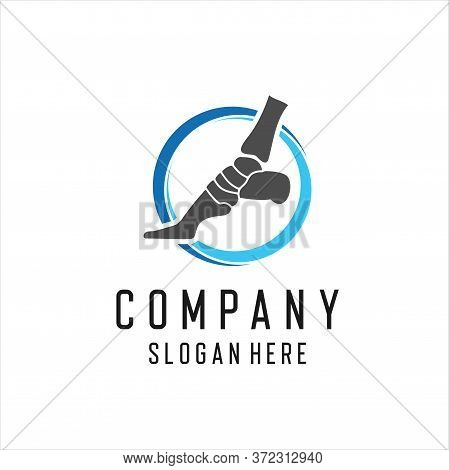 Health Medical Foot Logo Vector Template, Creative Of Foot Logo Design Concepts, Foot And Ankle Heal