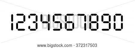 Digital Number Set. Calculator Digital Numbers. Digital Numbers Stencil Set.