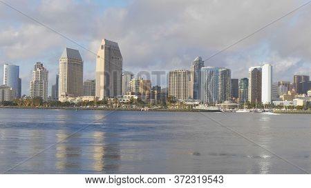San Diego Skyline View - San Diego, Usa - March 18, 2019