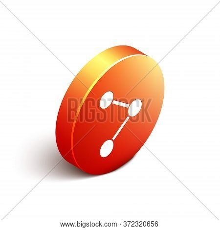 Isometric Share Icon Isolated On White Background. Share, Sharing, Communication Pictogram, Social M